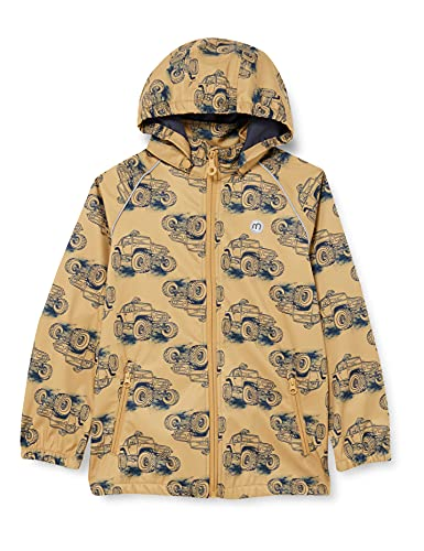 MINYMO Boys Softshell with Print Shell Jacket, Antelope, 110