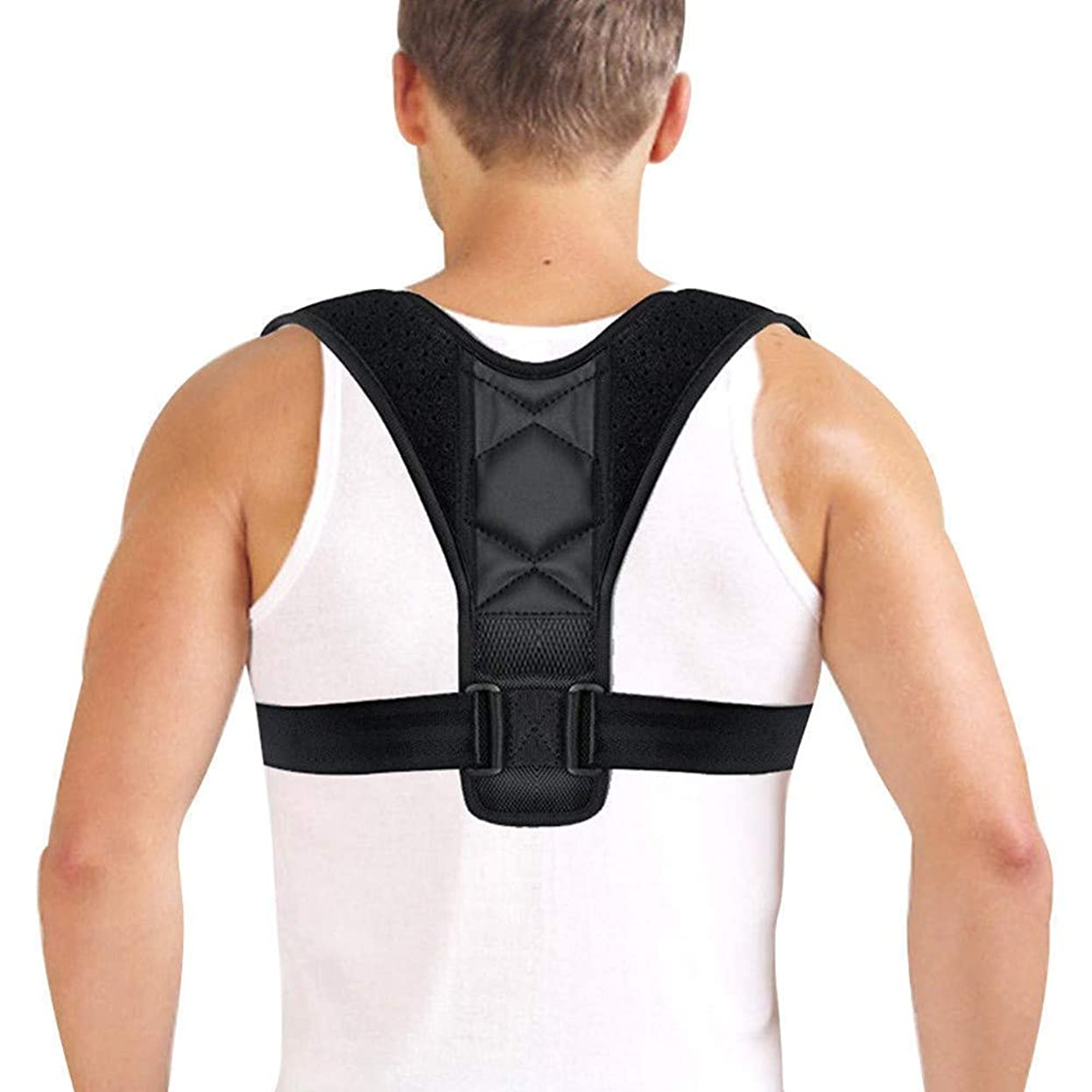 望ましい読みやすい厳密に調節可能な背部姿勢矯正装置鎖骨背骨背部肩腰部装具サポートベルト姿勢矯正は前かがみを防ぎますM