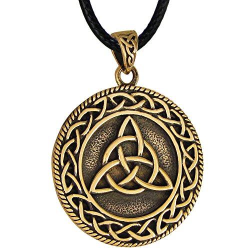 Moonlight Mysteries Bronze Triquetra Celtic Knot Pendant Necklace