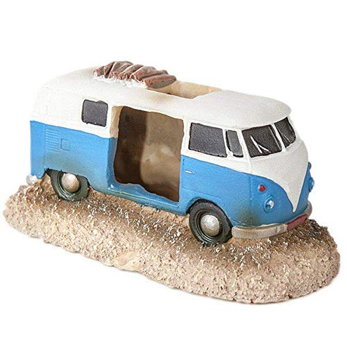 Aquarium Ornament Retro VW Camper Van