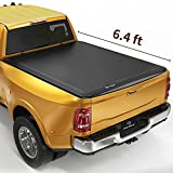 YITAMOTOR Soft Tri-Fold Truck Bed Tonneau Cover Compatible with 2009-2022 Dodge Ram 1500 (19-22 Classic), Fleetside 6.4 ft Bed Without Rambox