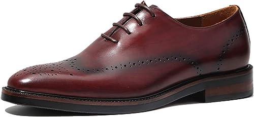 MAKAFJ Herren Brogues Handmade Formale Schuhe Schnürschuhe Oxfords Vintage Casual Herren Business Schuhe Hochzeit Kleid Schuhe