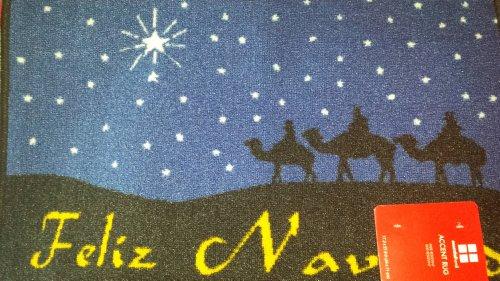 Feliz Navidad Three Wise Men Magi Decorative Kitchen Accent Rug Floor Mat 17.3 x 27.9 inch