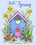 Hello Spring: Relax and dream ‒ a colouring book for adults.