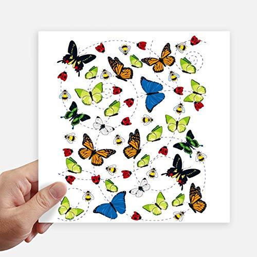 DIYthinker verschillende maten van vliegende vlinder vierkant Stickers 20Cm muur koffer Laptop Motobike Decal 4 Stks