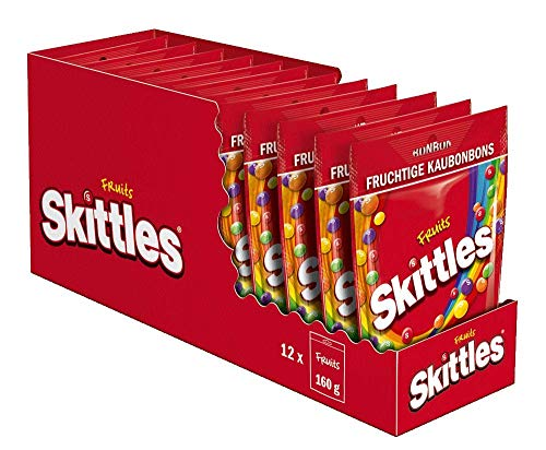 Skittles Fruits Beutel, 12er Pack (12 x 160 g)