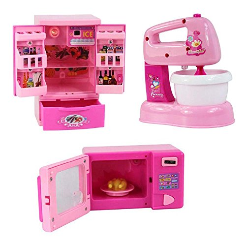Black Temptation Lot de 3 Mini Home Appliance Model Toys Jouet électronique, appareils de Cuisine