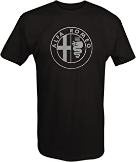 Car Club Tshirt - Alpha Romeo Circle Euro Mens T Shirt