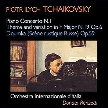 Tchaikovsky: Piano Concerto No. 1, Op. 23 - Thème original et variations No. 6, Op. 19 - Dumka in C Minor, Op. 59
