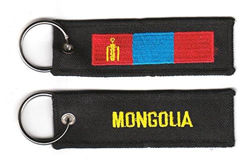 Schlüsselanhänger Mongolei Anhänger Fahne Flagge NEU