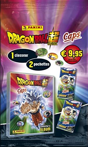 Panini France SA-Caps Dragon Ball Super Starter Pack (1 colector + 2 Bolsas), 004106SPCFGD