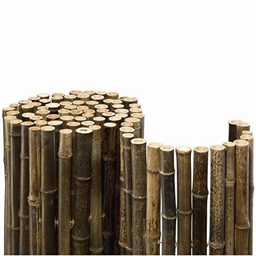 Bamboe mat zwart bamboe inkijkbescherming hek Ø 24 mm