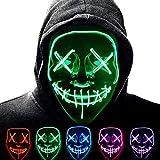 ALINILA Halloween Carnevale Maschera,Purge Mask LED,Horror Maschere Maschera per La Luce del Partito, 3 modalità di Lampeggiamento,per La Decorazione del Costume da Festa di Carnival