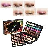 80 Colores Sombra de ojos + 15 Colores Colorete y corrector Contorno de maquillaje de ojos Conjunto...