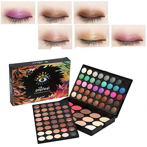 Paleta de sombra de ojos profesional de 80 colores +15 colores Colorete y corrector de maquillaje Contour Eye Powder Cosmetic Set Por filfeel