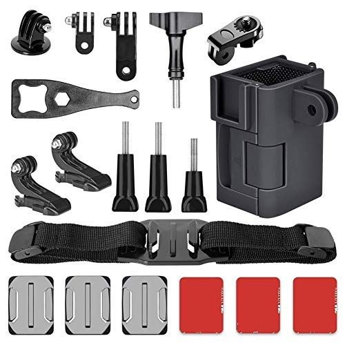 Sturdy Durable 22in1 Mounts Kit Bike Cycling Motocycle Helmet Adhesive Holder Waterproof Sticker for DJI OSMO Pocket Accessories Action Camera Convenient Practical