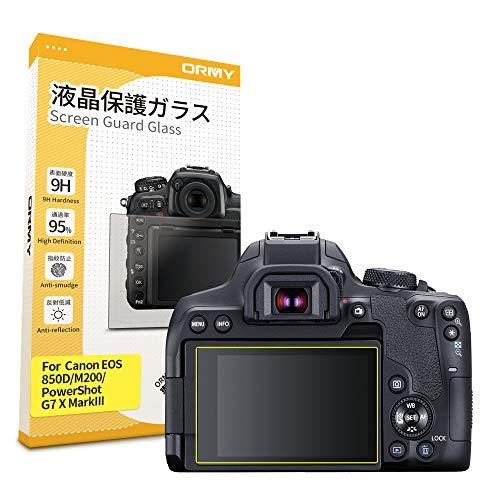 ORMY Displayschutz aus gehärtetem Glas für Canon EOS 850D / EOS M200 / PowerShot G7 X MarkIII [ultradünn, High Definition, 9H Härte]