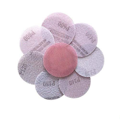 10 Stück Mesh Abrasive Dust Free Schleifscheiben 3 Zoll 75 mm Anti-Blocking Trockenschleifpapier 120 bis 1000 Körnung