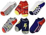 Stride Rite Boys' Little 6-Pack No Show, randal racer red, Sock: 7-8.5/Shoe: 10-13