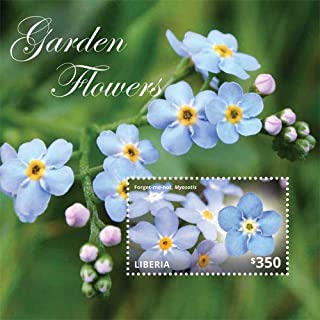 2014 Forget-Me-Not - Garden Flowers, Collectible Souvenir Stamp, Mint Never Hinged