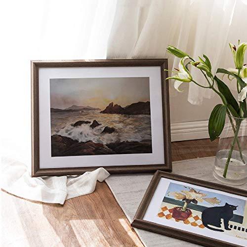 A3 / A4 / Marco De Fotos De Madera Maciza/Se Puede Colgar En La Pared/Rectángulo/Pared De Decoración De Sala De Estar/Pared De Exhibición/Marco De Espejo 14x18 Inch(35.5x45.7cm)