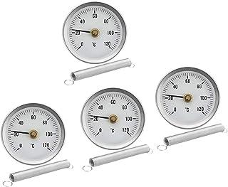 4 x Rohr Thermometer Temperaturanzeige mit Clip On Feder 0 120 ℃ 63mm