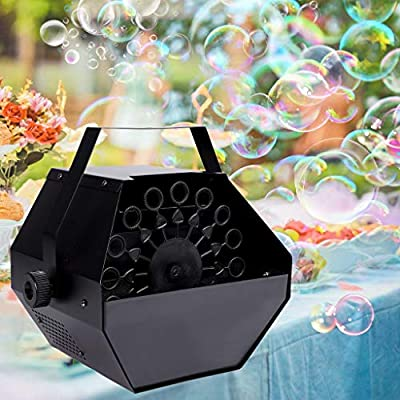 Black Bubble Blower, 25W 220V Portable Bubble Maker Electric Bubble Blower Blowing Maker Machine for Kids Birthday Party DJ Wedding Party Club