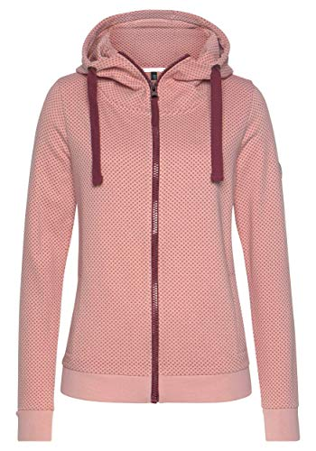 DOTIN Damen Kapuzenpullover Sweatjacke Zip Hoodie Jacke mit Kapuze Herbst Winter Sweatshirt Kapuzenjacke Pullover