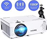 Mini Projector, VicTsing WiFi Mini Projector Bluetooth, 1080P Supported 170'' Display, Portable WiFi