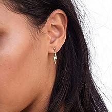 GMZOO Tiny Lightning Bolt Stud Pendientes para Mujeres Unique Brief Mini Alloy Earrings Femme Bijoux