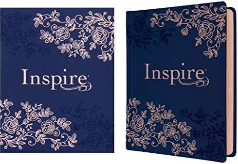 Inspire Bible NLT Hardcover LeatherLike Navy The Bible for Coloring Creative Journaling product image