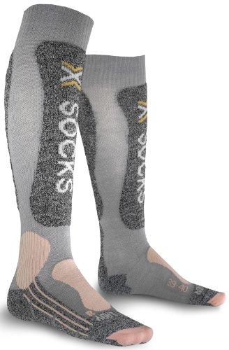 X-Socks Skiing Light Lady Chaussettes Femme, Noir, 39-40