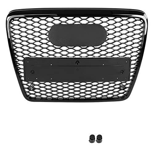 ZHGHS 1 unids Coche Rejilla Delantera para RS6 Style Front Sport Hex Mesh Honeycomb Black para Audi A6 / S6 C6 2005 2006 2007 2009 2010 2010 2011 Rejillas