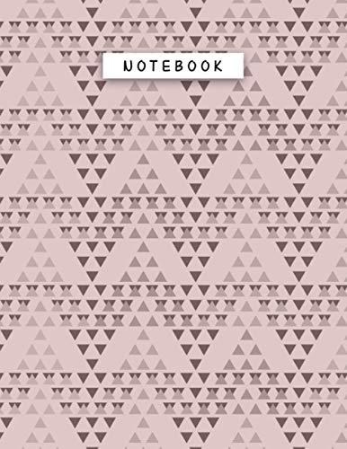 Notebook Rosy Brown Color Geometric Triangles Overlap Patterns Cover Lined Journal: Task Manager, 110 Pages, Work List, Tax, 8.5