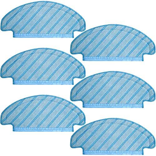 Preisvergleich Produktbild HALIEVE 6 Stück Wischtücher Tücher Ersatzteile Zubehör für Ecovacs DEEBOT OZMO T8 AIVI Staubsauger Roboter