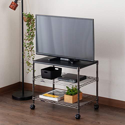 ルミナスブラックニッケルシリーズポール径19mmテレビ台3段幅59.5×奥行39.5×高さ51cmBN5160-3M