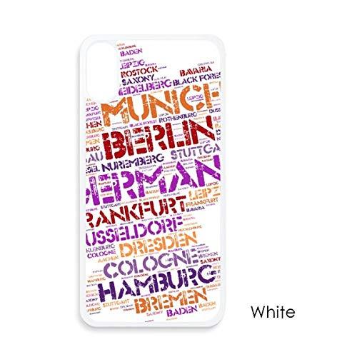 beatChong Duitsland stad naam Map-stijl voor iPhone X-hoezen wit phonecase Apple-afdekking-case geschenk