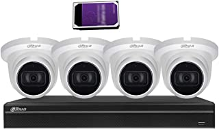 Dahua 4K(8MP) 8CH PoE Home Security Camera System, 8MP Starlight Outdoor PoE IP Cameras with Build in MIC, 4K 8-Channel NV...