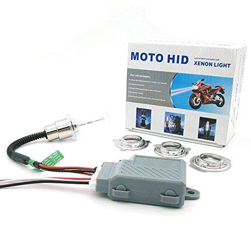 Heinmo Kit de conversion HID bi-xénon pour phare de moto 35 W pour Yamaha (10 000 K).