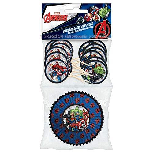 Marvel Avengers Powers Unite Cupcake Cases and Picks Pack
