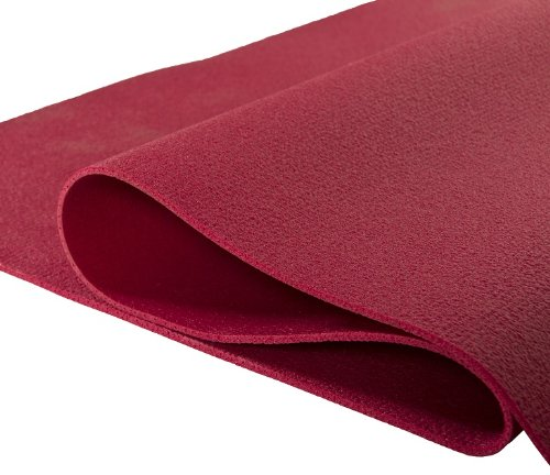 Yogabox Yogamatte 2.Wahl PVC 183 x 60 x 0,40-0,45 cm Made in Germany, Bordeaux