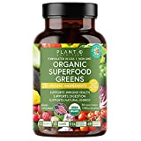 Plant.O Organic Superfood Greens [Fruit & Veggie Supplement] High Absorption Antioxidants from Green Powder with Alfalfa, Beet Root, Tart Cherry for Immune Support, Gut Health, Energy Boost, 30 Count