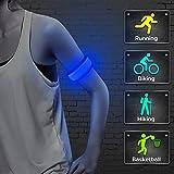 Higo LED Slap Armband for Running - Water Resistant Heat Sealed Glowing Led Slap Bracelet Light Up Sports Wristband, for Kids Safety (Blue 45cm)