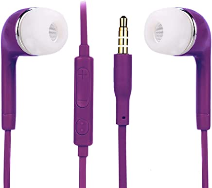 Écouteurs Haute Qualité Audio Durable + Innovant : Ecouteurs Intra-auriculaire avec Mousse à Mémoire de Forme 3.5mm in-Ear Stereo Earbud Headphone Earphone Headset with MIC for Samsung