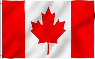 Anley Fly Breeze 3x5 Foot Canada Flag - Vivid Color and UV Fade Resistant - Canvas Header and Double Stitched - Canadian National Flags Polyester with Brass Grommets 3 X 5 Ft