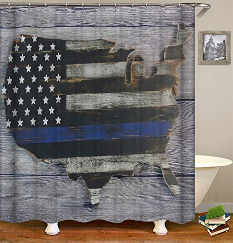 ZZZdz vloerbedekking van grijs hout, oude vlag Amerika, waterdicht, gemakkelijk te reinigen, 180 x 180 cm