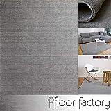 floor factory Gabbeh Teppich Karma grau 140x200 cm - handgefertigt aus 100% Schurwolle