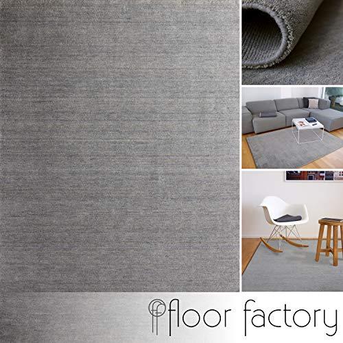 floor factory Gabbeh Teppich Karma grau 160x230 cm - handgefertigt aus 100% Schurwolle