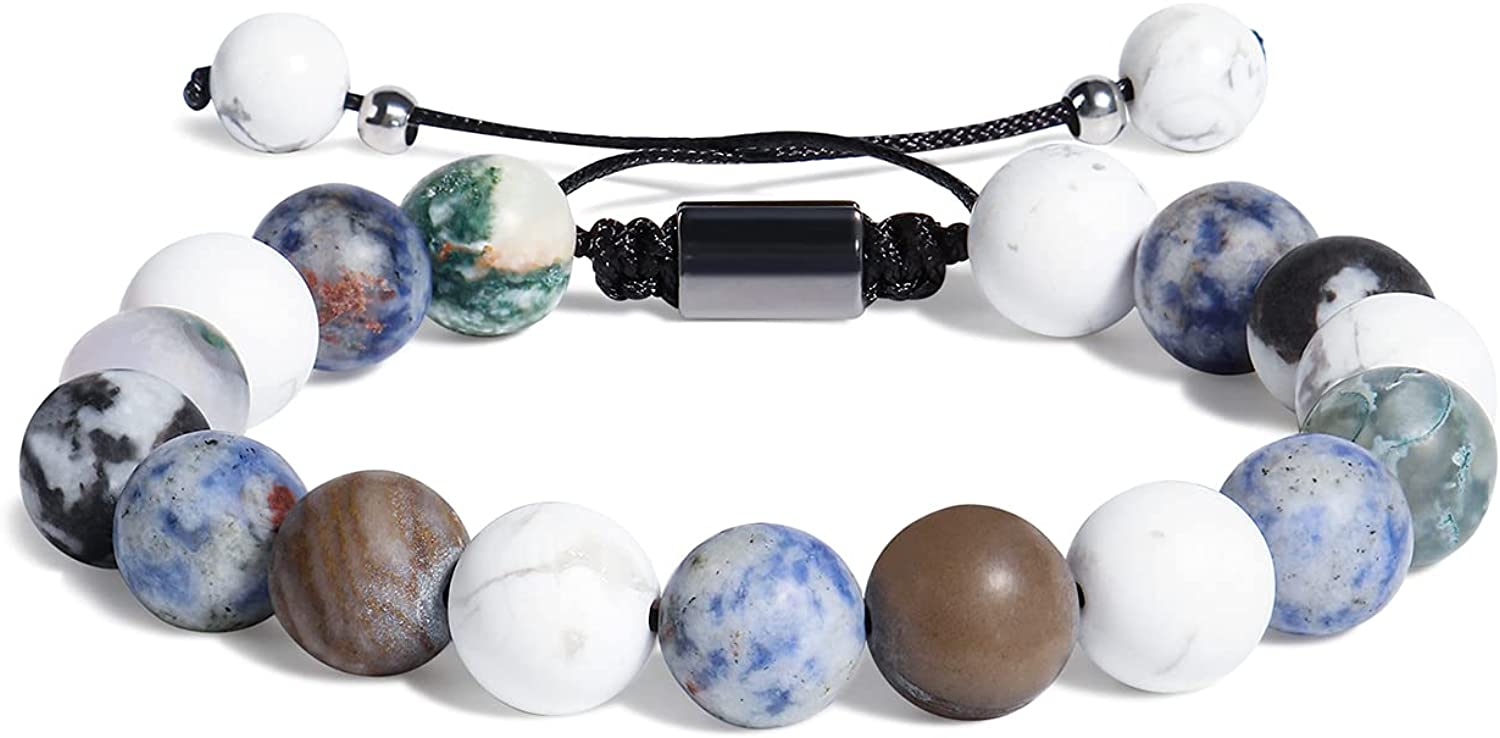 Berryki Under blast sales Natural Stone Beaded Planets As New product Galaxy Universe Bracelet