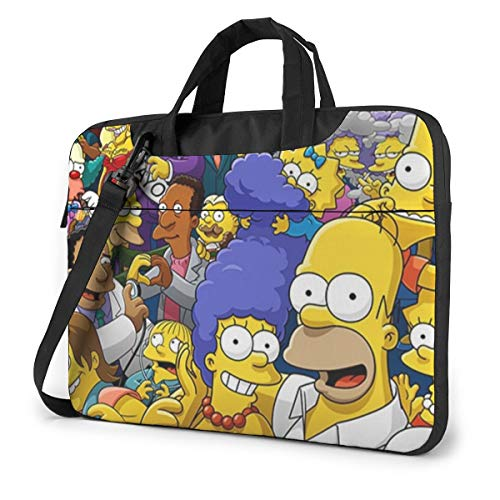 NDSXTLCA The Simpsons 17.3-Inch Laptop Shoulder Sleeve Bag Case with Handle for 17 17.3' Acer Dell Hp Classic Colorful 14 inch
